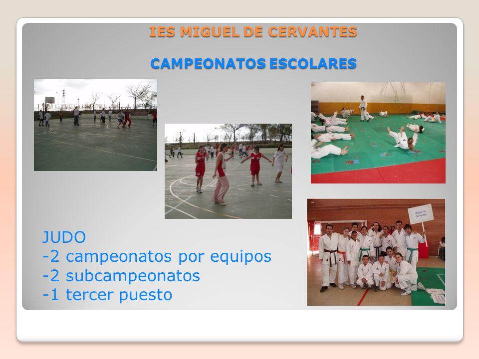 IES MIGUEL DE CERVANTES CAMPEONATOS ESCOLARES