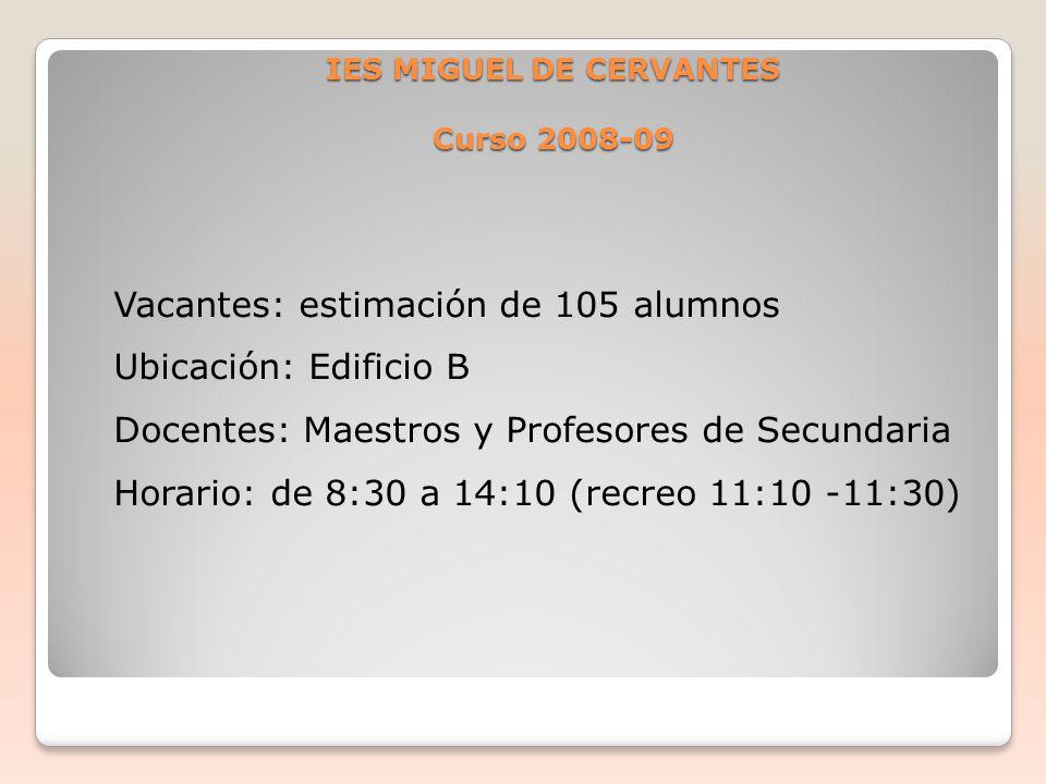 IES MIGUEL DE CERVANTES Curso 2008-09