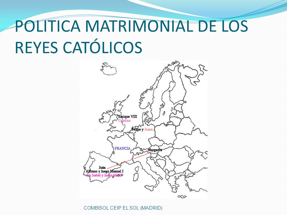 POLITICA MATRIMONIAL DE LOS REYES CATÓLICOS