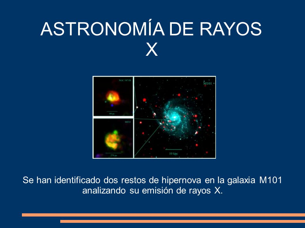 ASTRONOMÍA DE RAYOS X Se han identificado dos restos de hipernova en la galaxia M101 analizando su emisión de rayos X.