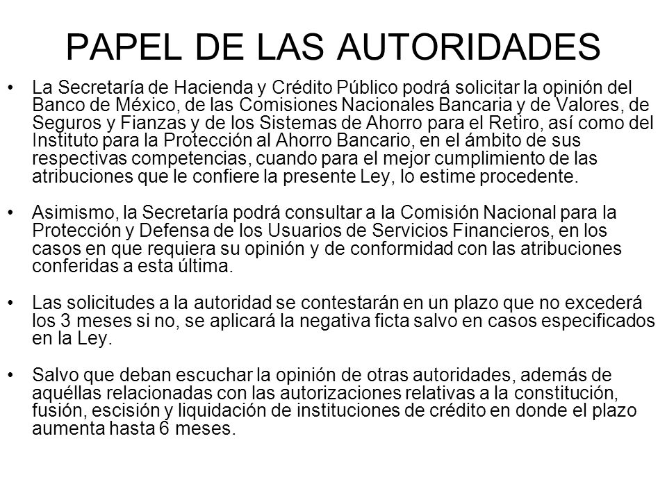 PAPEL DE LAS AUTORIDADES