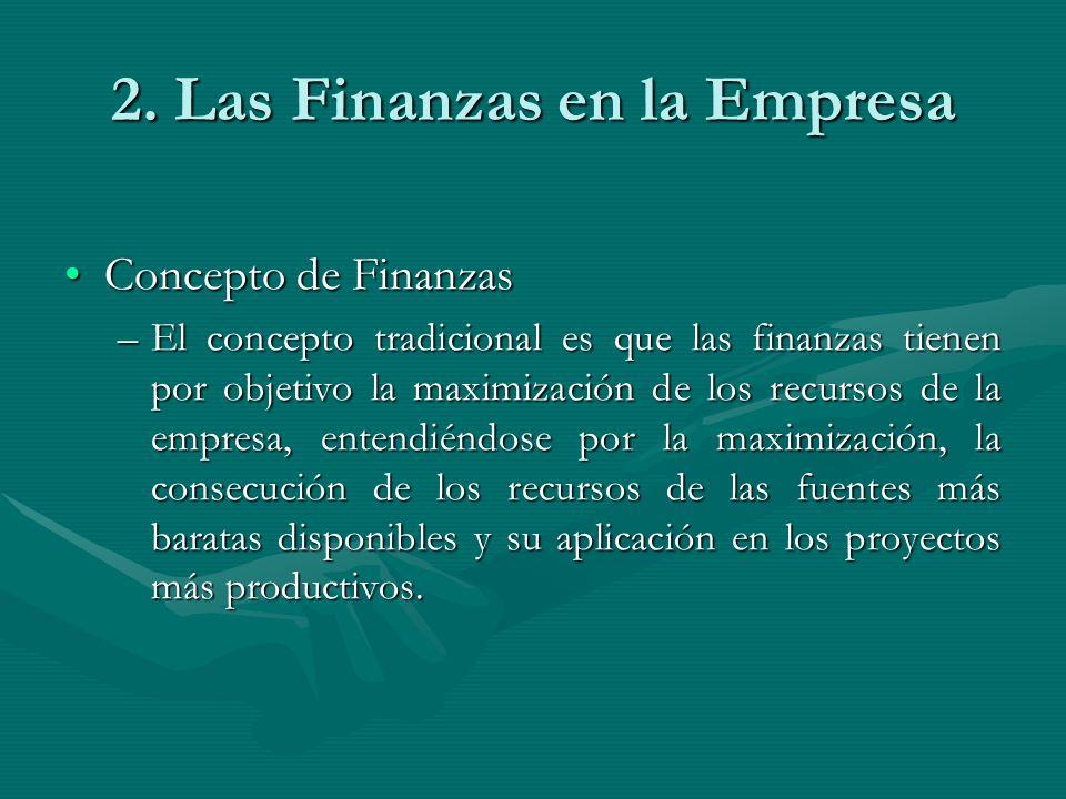 2. Las Finanzas en la Empresa
