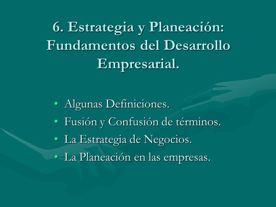 6. Estrategia y Planeación: Fundamentos del Desarrollo Empresarial.