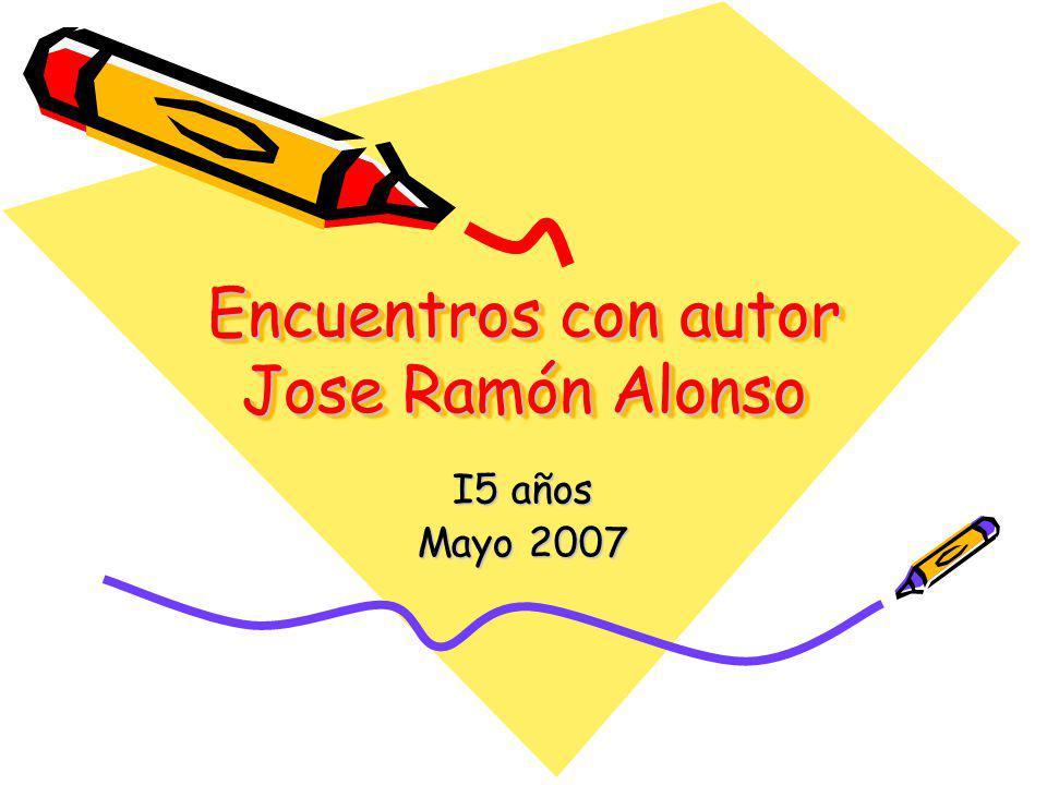 Encuentros con autor Jose Ramón Alonso