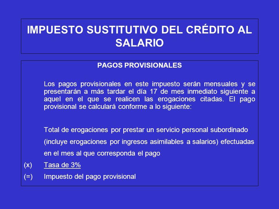IMPUESTO SUSTITUTIVO DEL CRÉDITO AL SALARIO