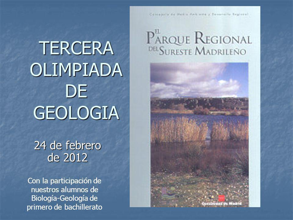 TERCERA OLIMPIADA DE GEOLOGIA