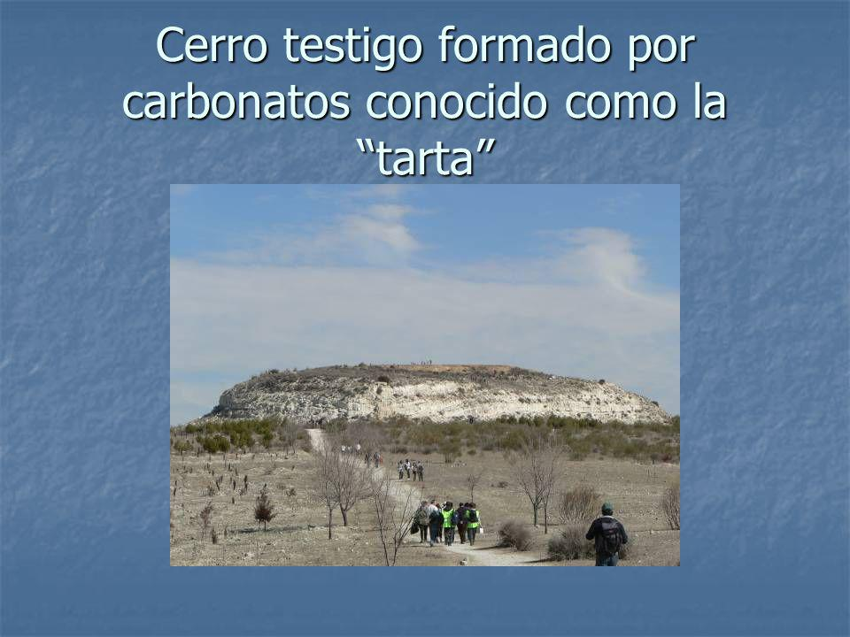 Cerro testigo formado por carbonatos conocido como la tarta