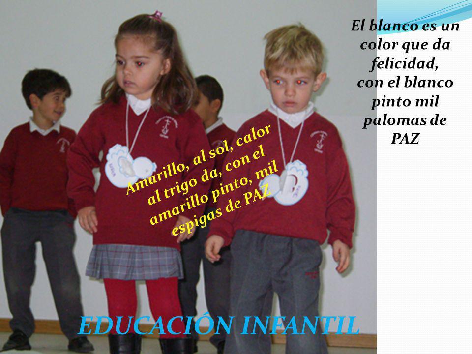 EDUCACIÓN INFANTIL El blanco es un color que da felicidad,
