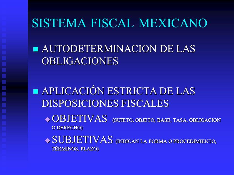 SISTEMA FISCAL MEXICANO