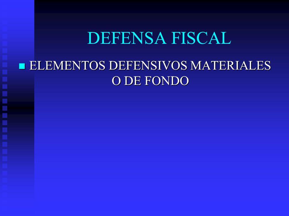 ELEMENTOS DEFENSIVOS MATERIALES O DE FONDO