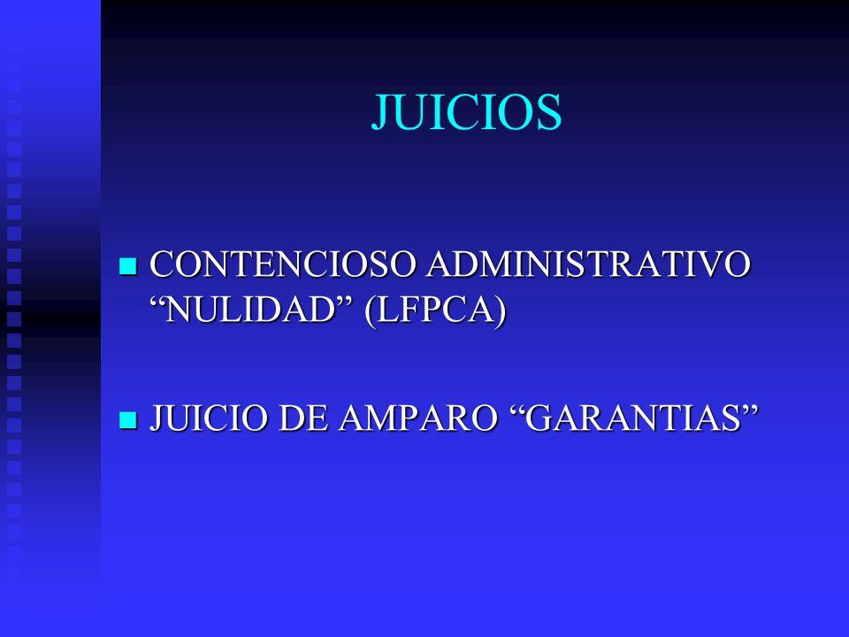JUICIOS CONTENCIOSO ADMINISTRATIVO NULIDAD (LFPCA)