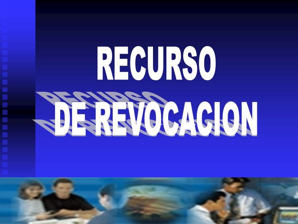 RECURSO DE REVOCACION