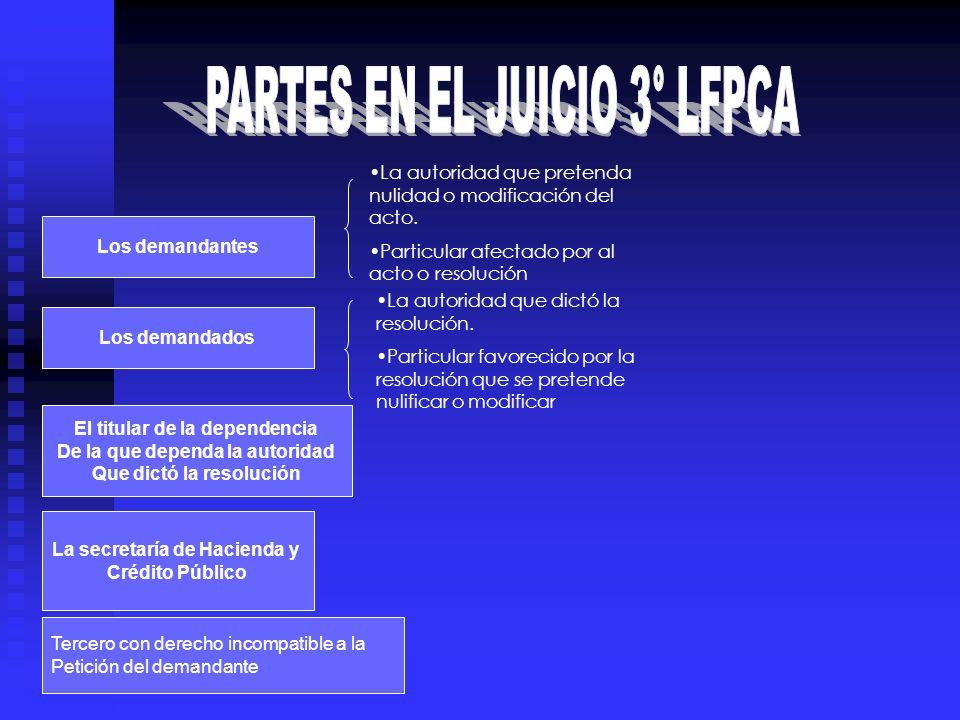 PARTES EN EL JUICIO 3° LFPCA