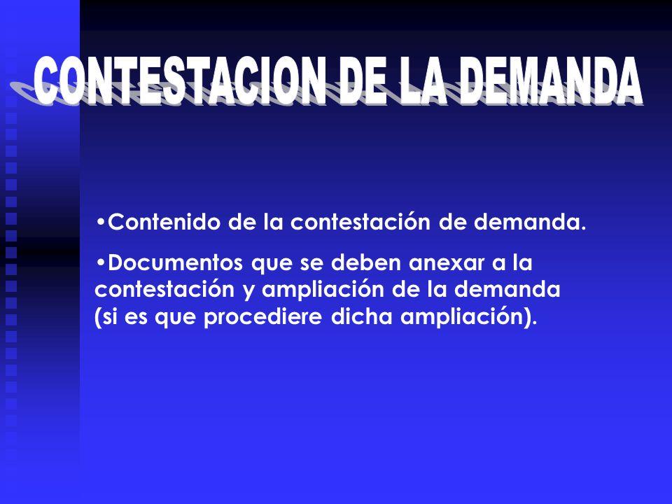 CONTESTACION DE LA DEMANDA