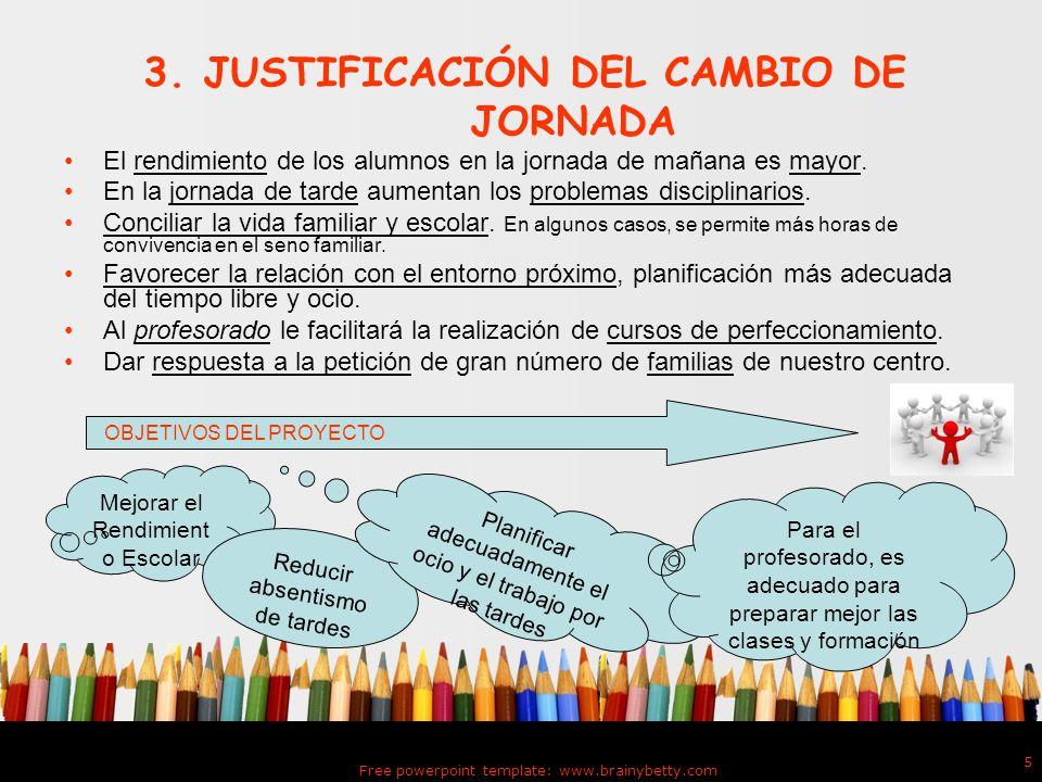 3. JUSTIFICACIÓN DEL CAMBIO DE JORNADA