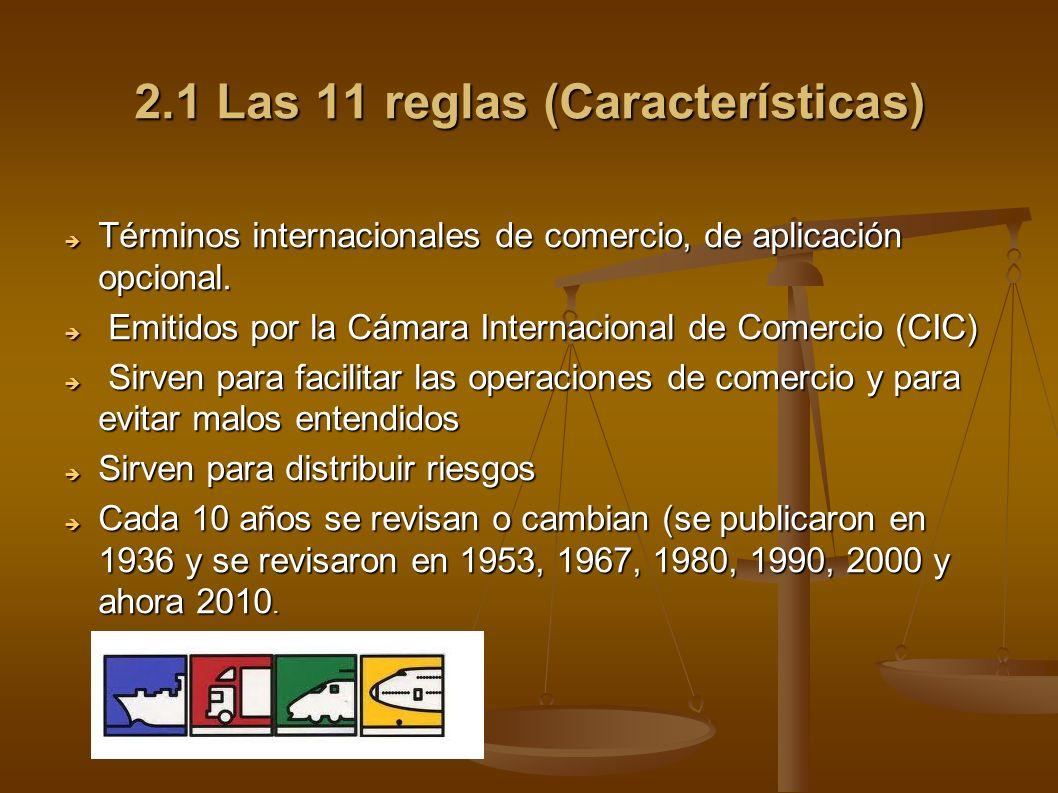 2.1 Las 11 reglas (Características)