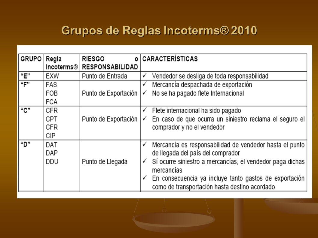Grupos de Reglas Incoterms® 2010