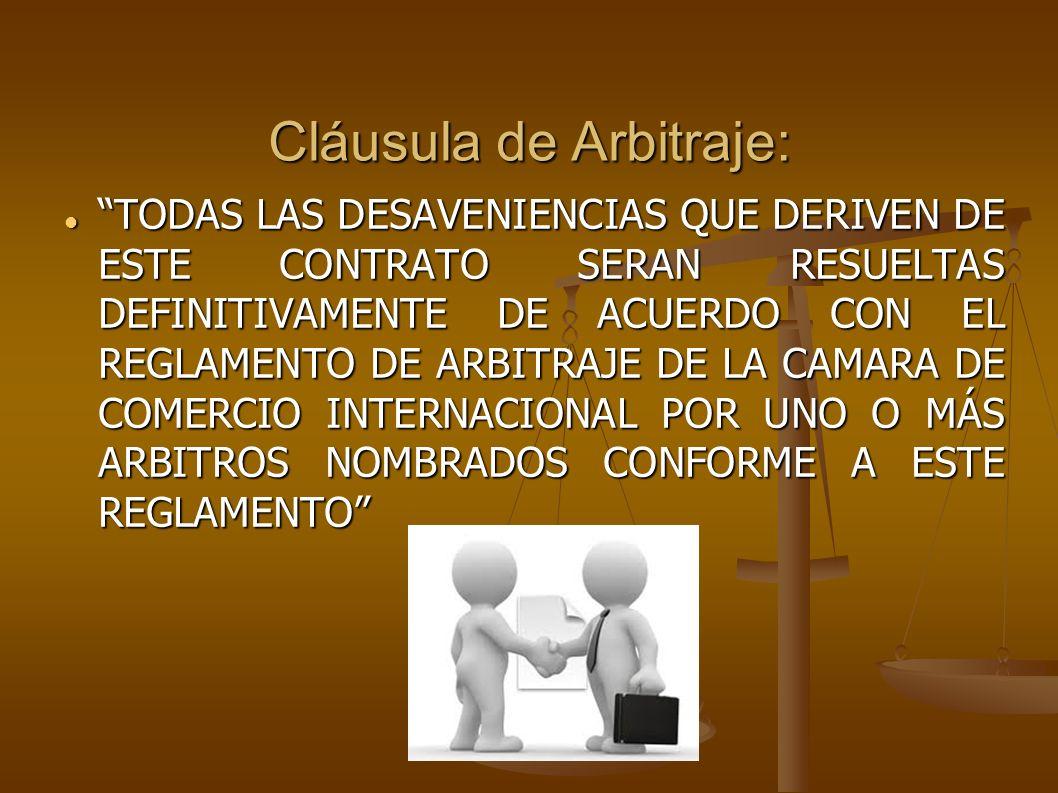 Cláusula de Arbitraje: