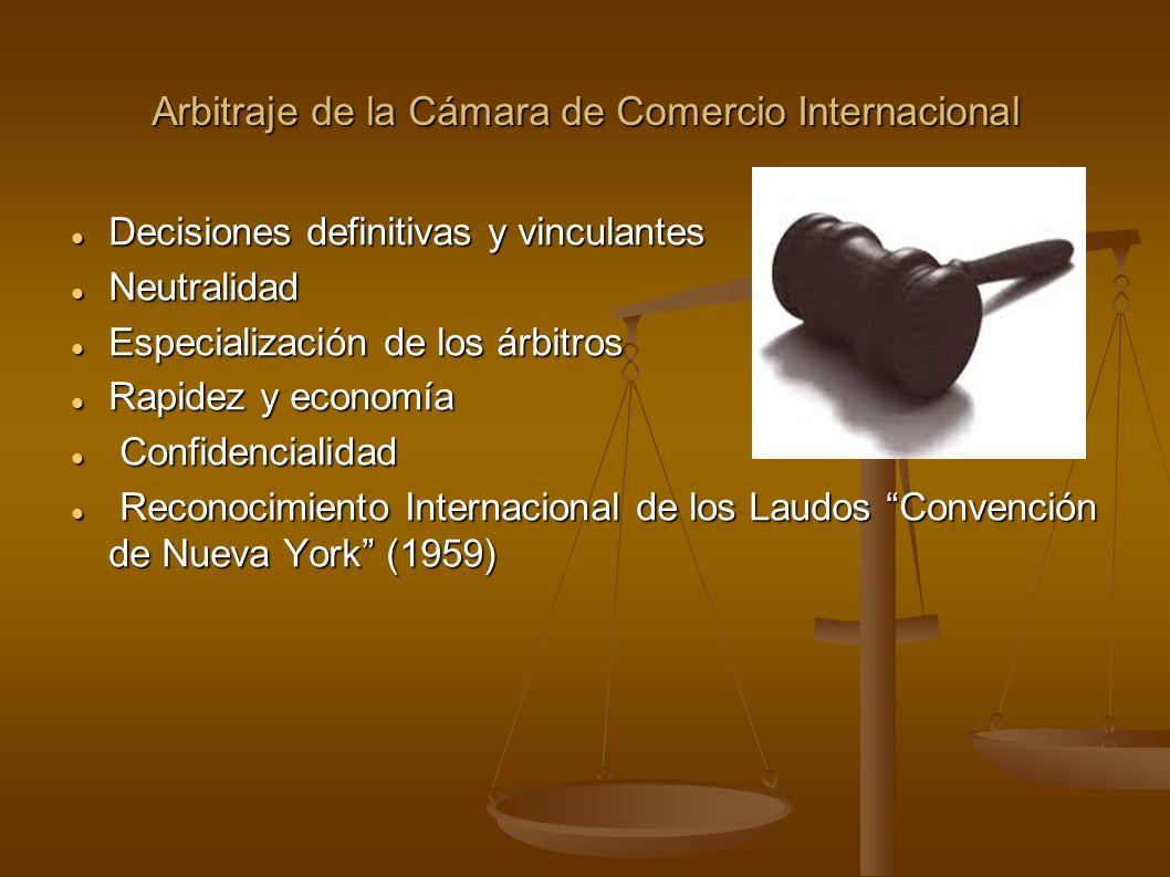 Arbitraje de la Cámara de Comercio Internacional