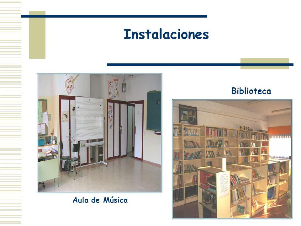 Instalaciones Biblioteca Aula de Música