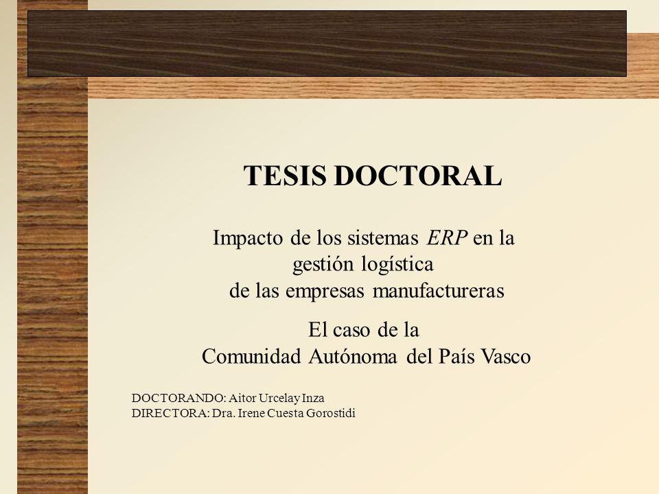 TESIS DOCTORAL Impacto de los sistemas ERP en la gestión logística