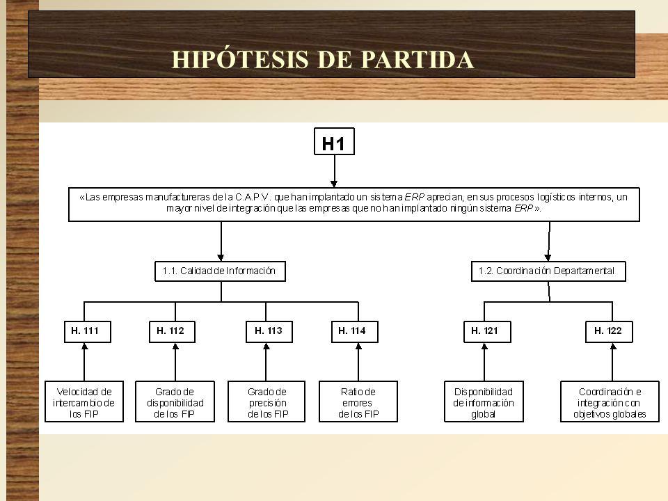 HIPÓTESIS DE PARTIDA HIPÓTESIS DE PARTIDA