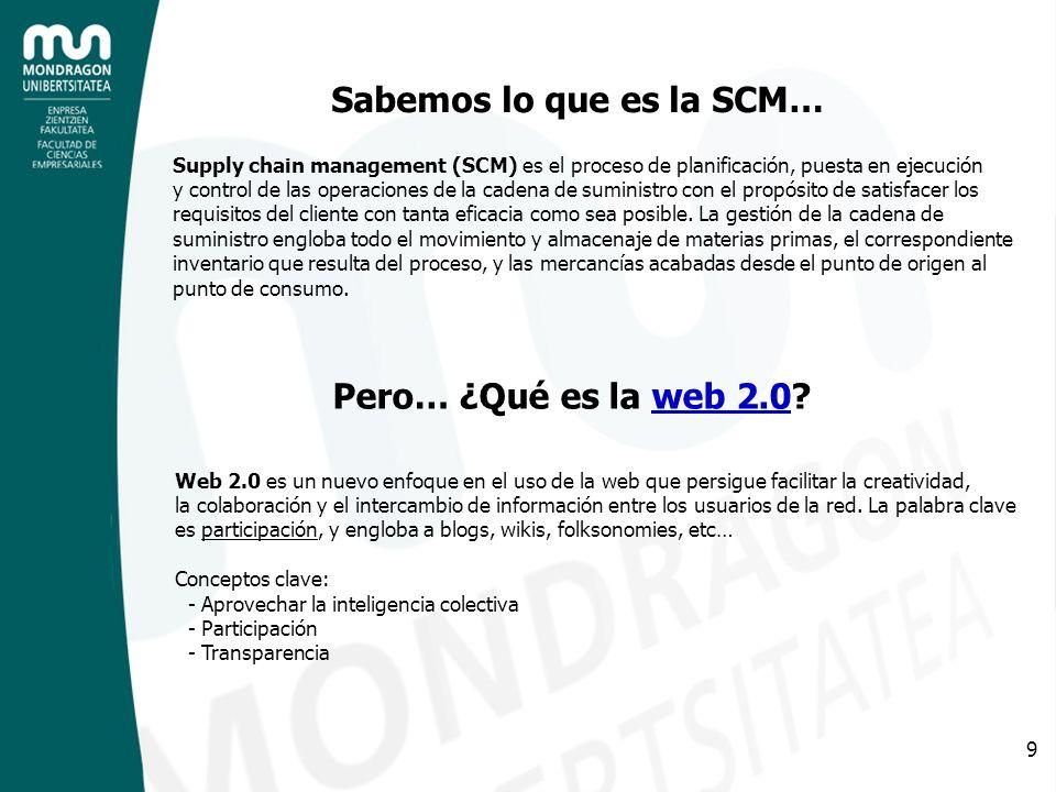 Sabemos lo que es la SCM…