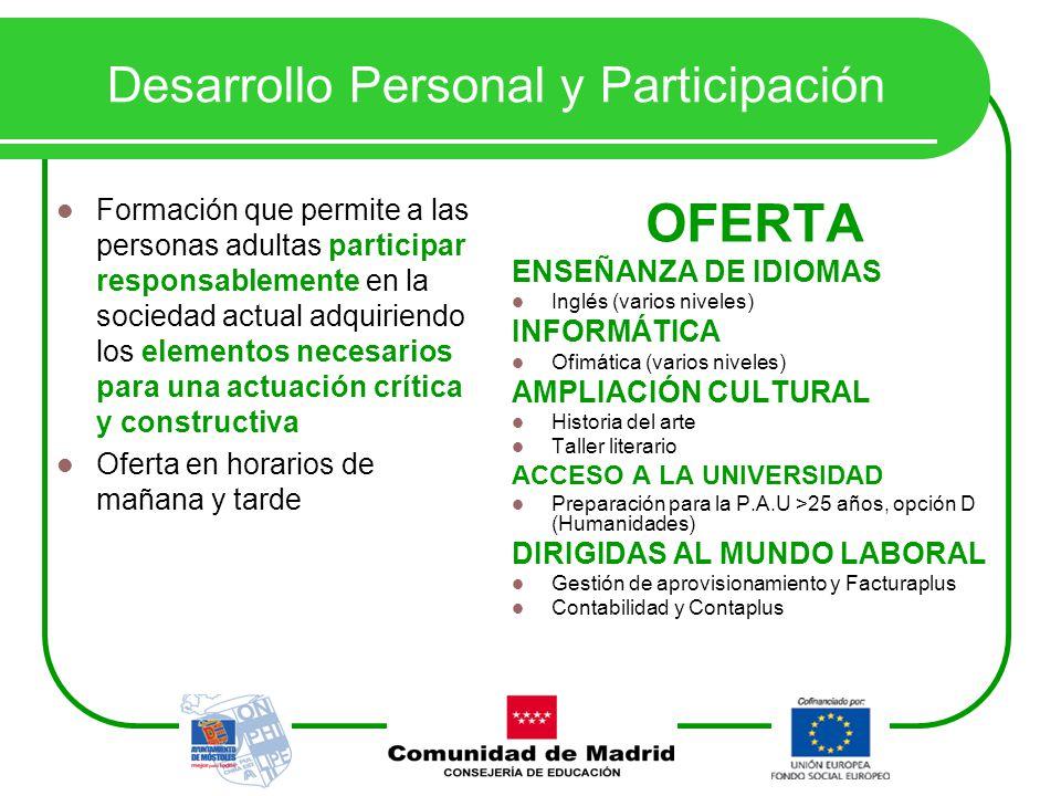 Desarrollo Personal y Participación