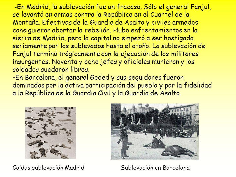 Sublevación en Barcelona