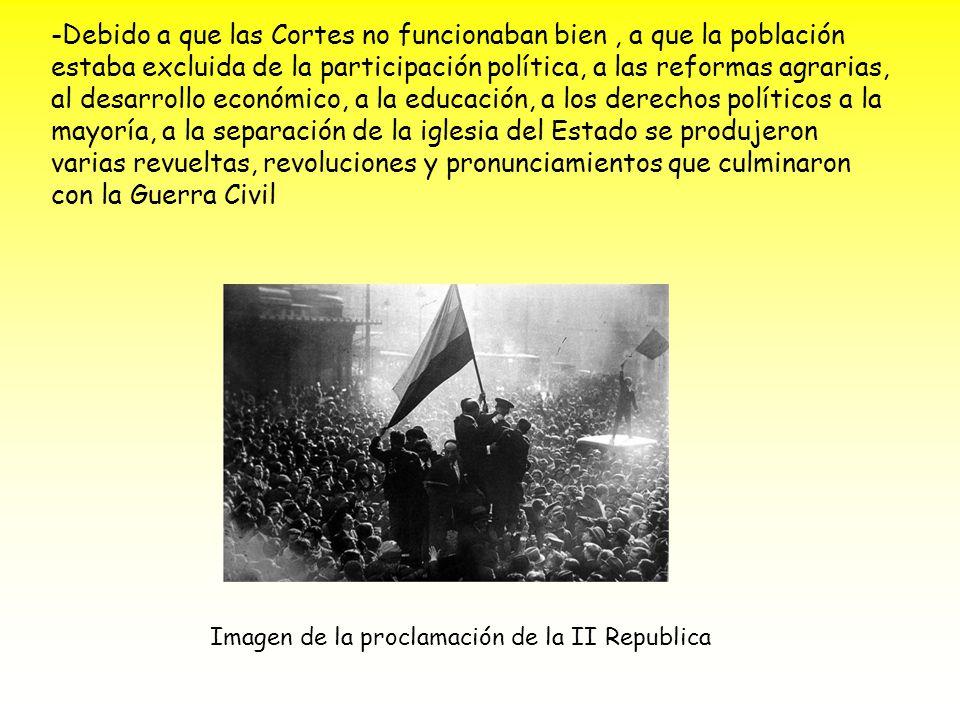 Imagen de la proclamación de la II Republica
