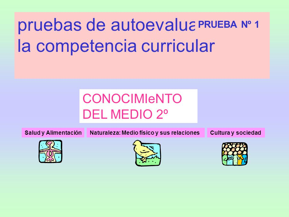 pruebas de autoevaluación de la competencia curricular