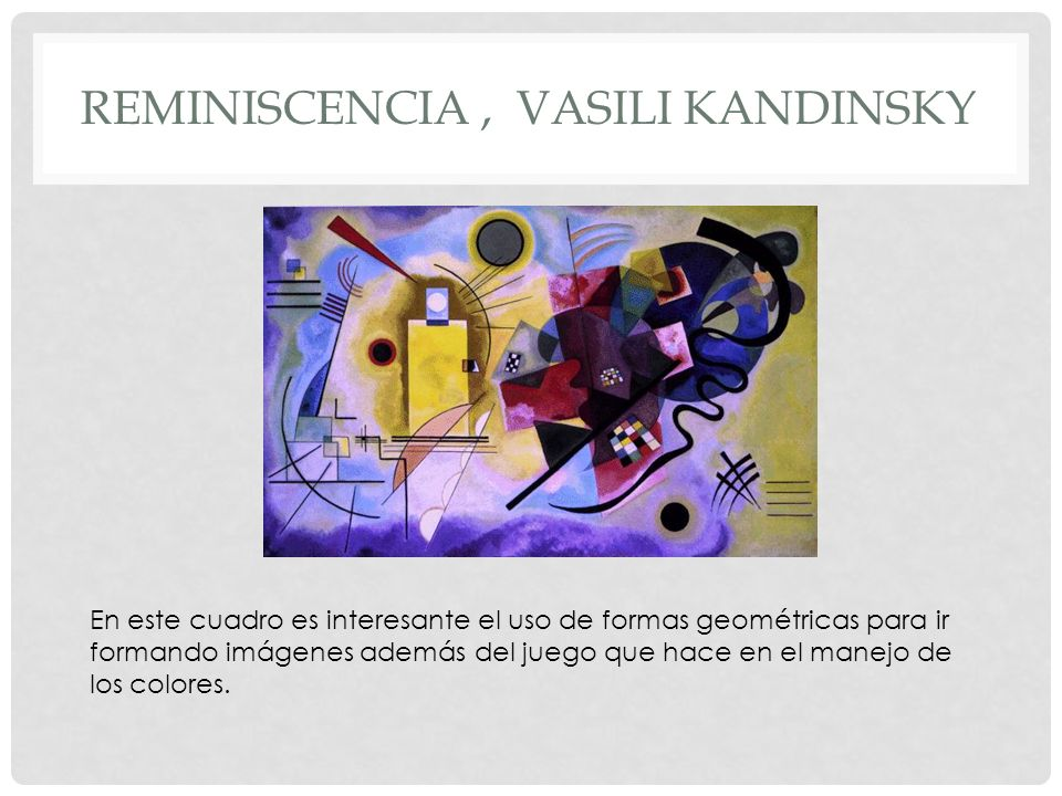Reminiscencia , vasili kandinsky