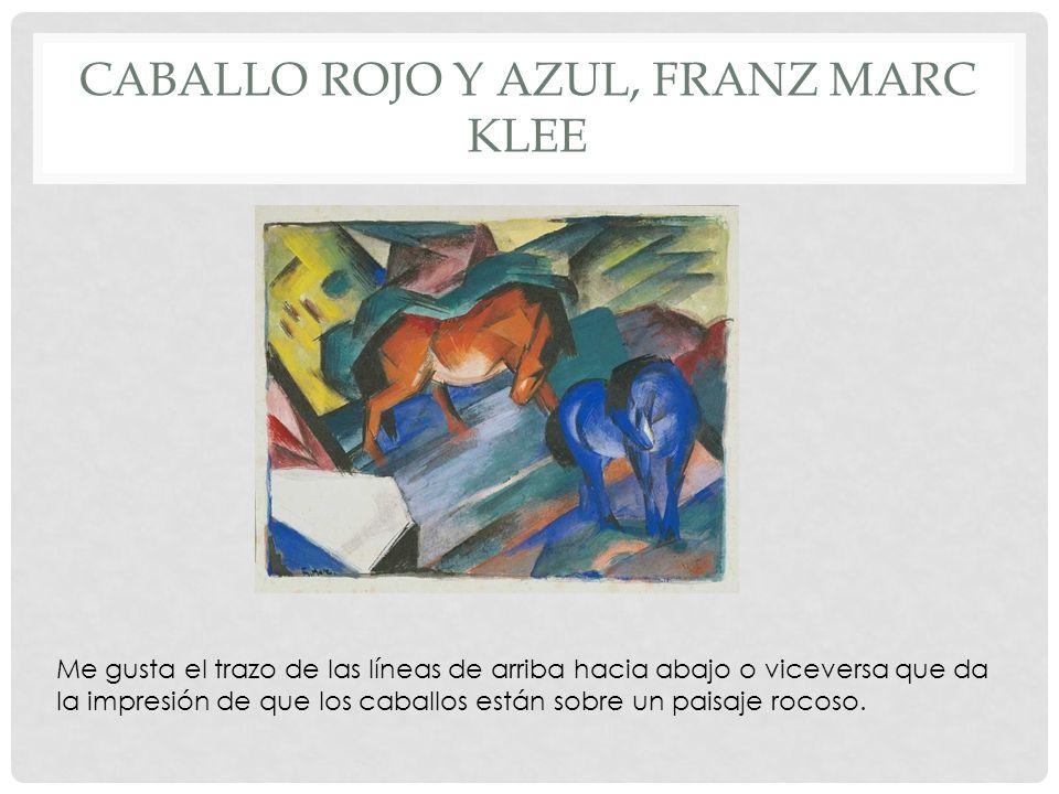 CABALLO ROJO Y AZUL, FRANZ MARC KLEE