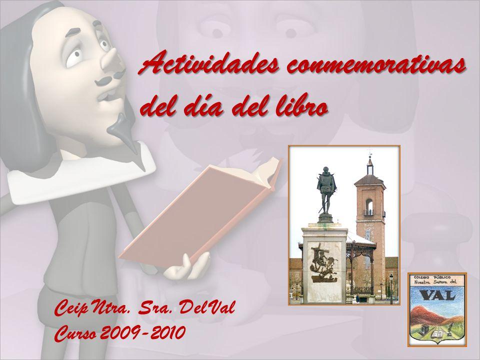 Actividades conmemorativas del día del libro