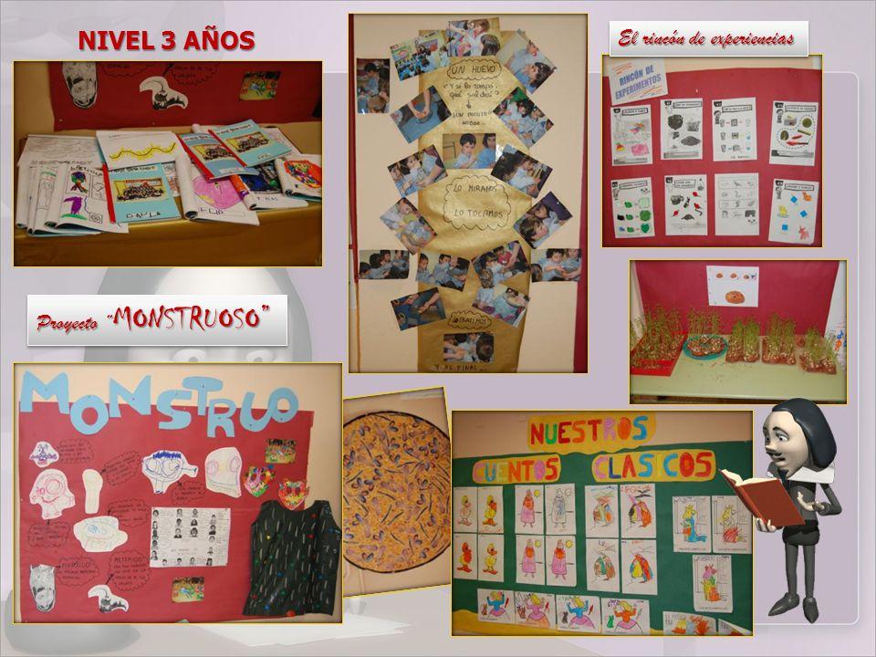 NIVEL 3 AÑOS El rincón de experiencias Proyecto MONSTRUOSO