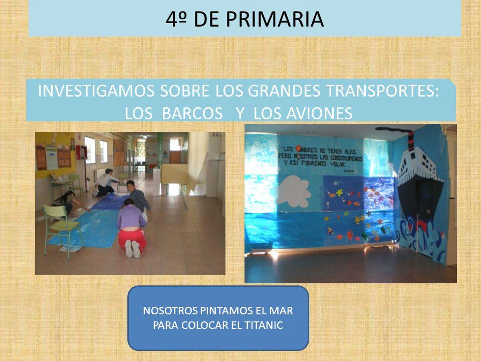 4º DE PRIMARIA INVESTIGAMOS SOBRE LOS GRANDES TRANSPORTES: LOS BARCOS Y LOS AVIONES.