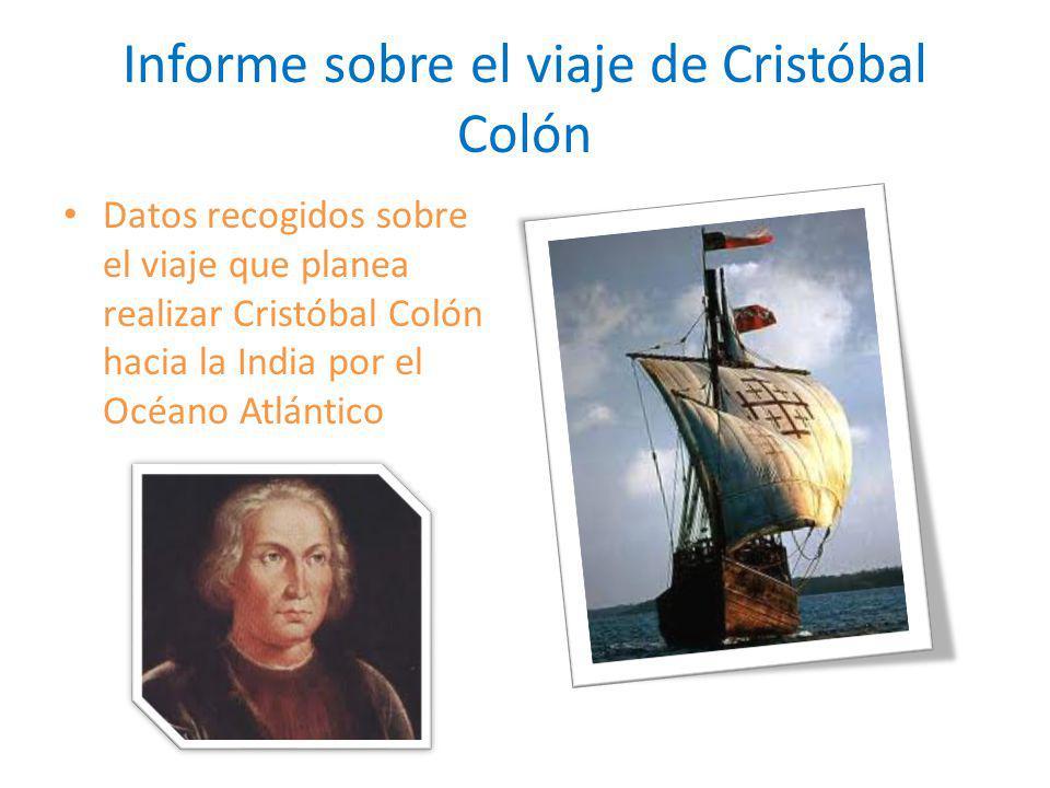 Informe sobre el viaje de Cristóbal Colón