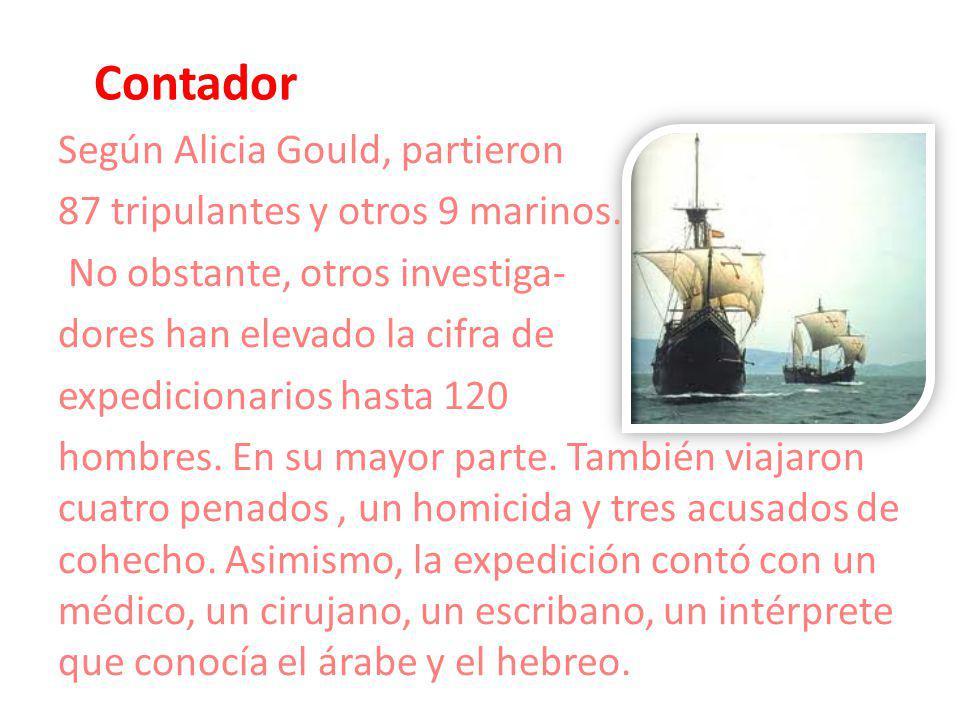 Contador Según Alicia Gould, partieron