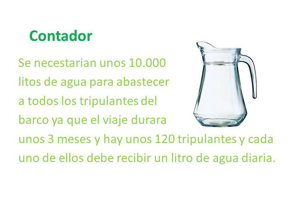 Contador Se necestarian unos 10.000 litos de agua para abastecer