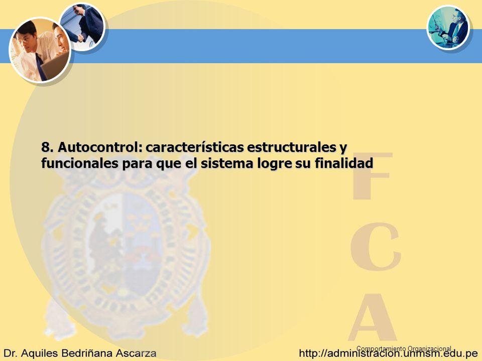 8. Autocontrol: características estructurales y