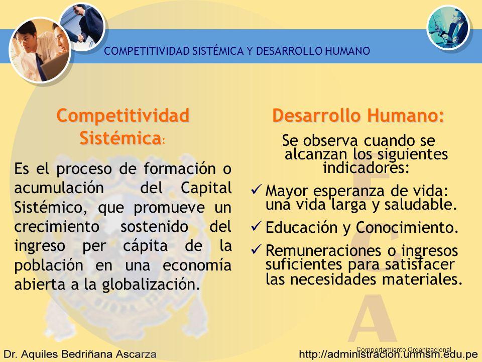 Competitividad Sistémica: Desarrollo Humano:
