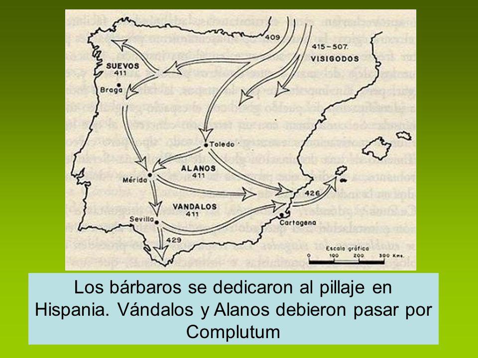 Los bárbaros se dedicaron al pillaje en Hispania