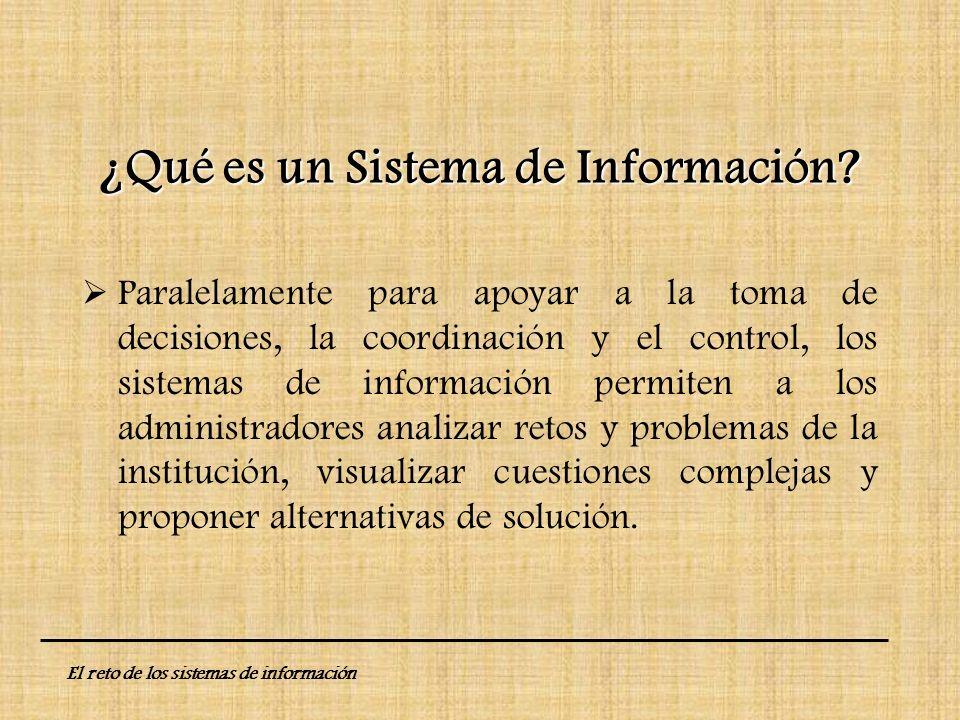 ¿Qué es un Sistema de Información