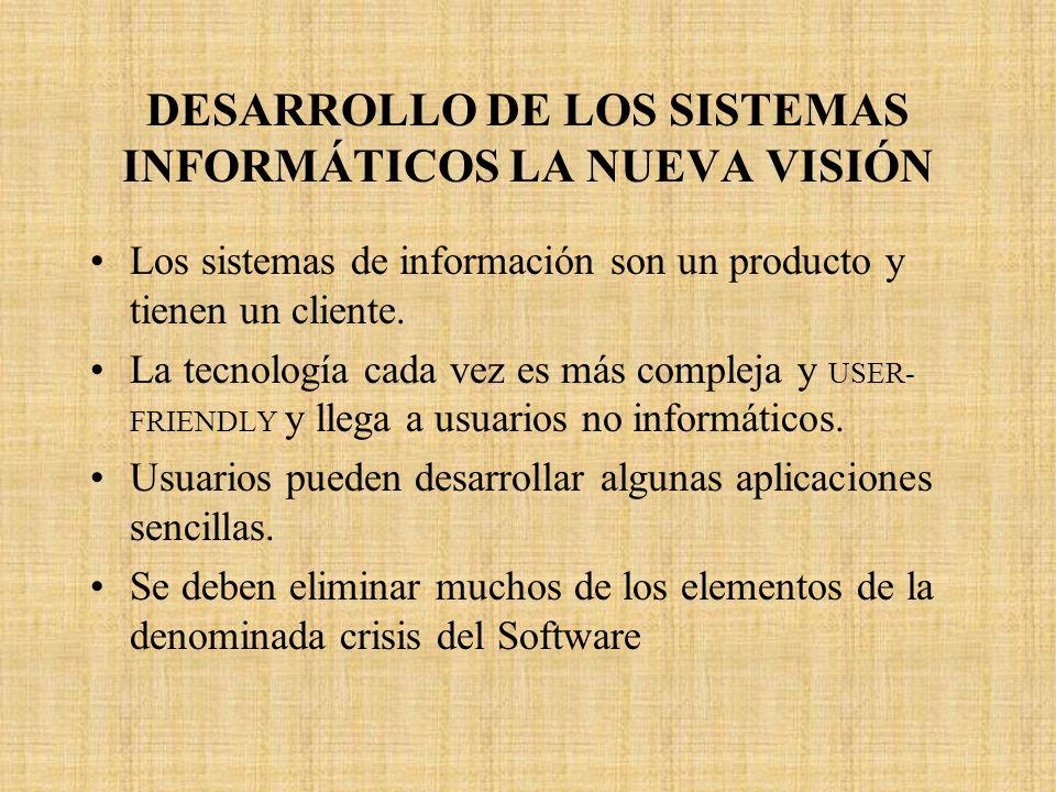 DESARROLLO DE LOS SISTEMAS INFORMÁTICOS LA NUEVA VISIÓN