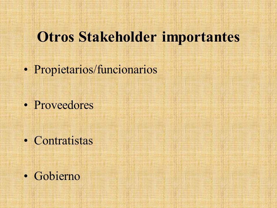 Otros Stakeholder importantes