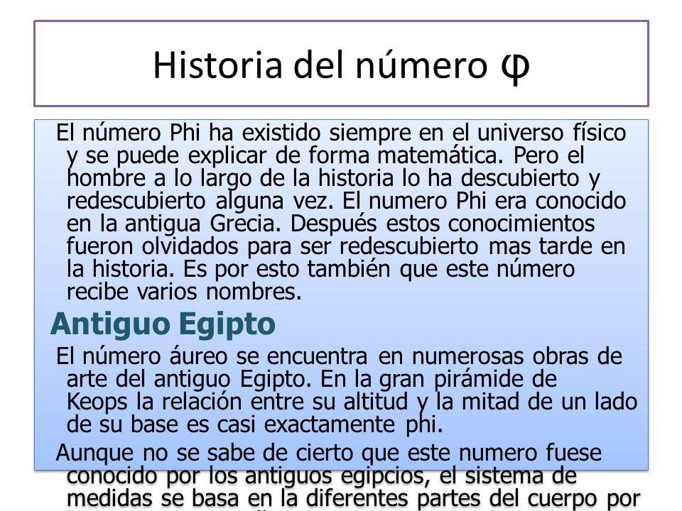Historia del número φ Antiguo Egipto