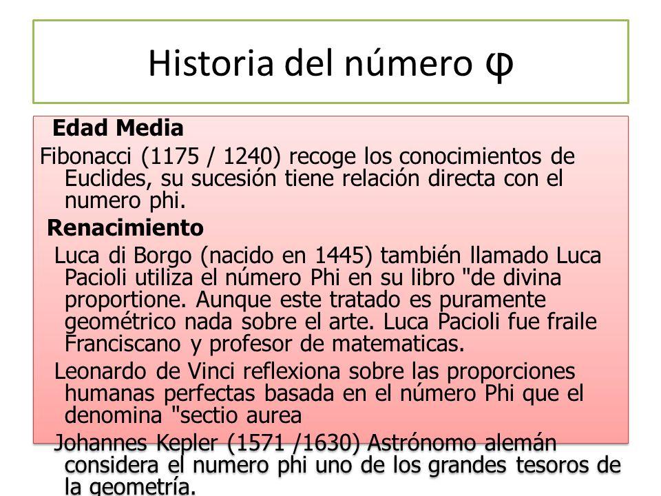 Historia del número φ
