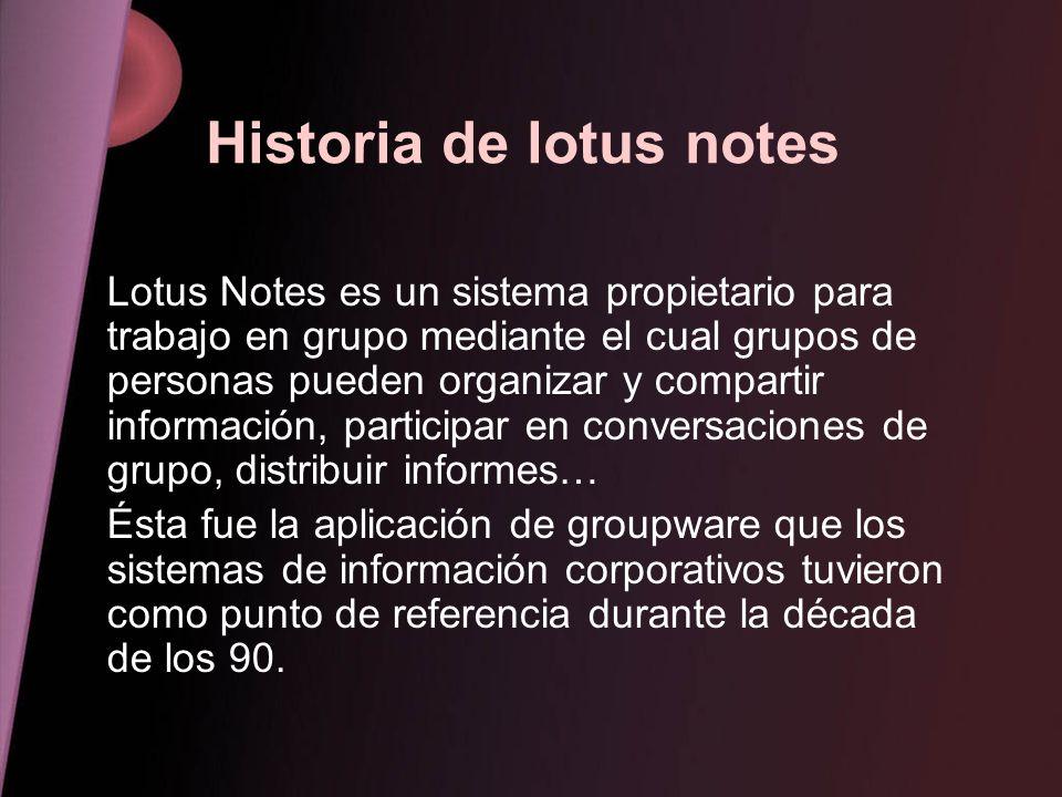 Historia de lotus notes