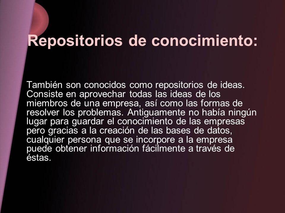 Repositorios de conocimiento: