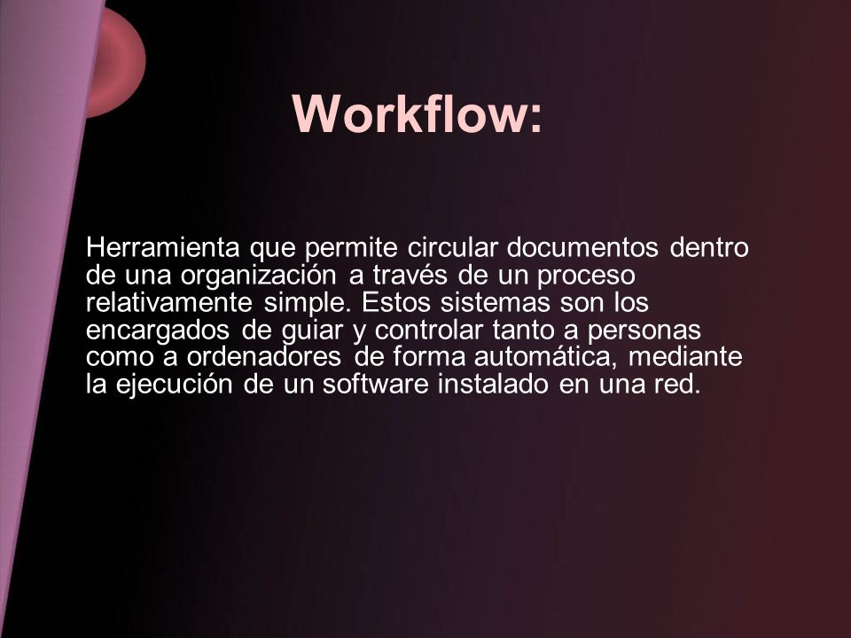 Workflow: